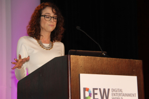 Shira Lazar, co-founder, host, EP, What's Trending during DEW Expo day two welcoming remarks