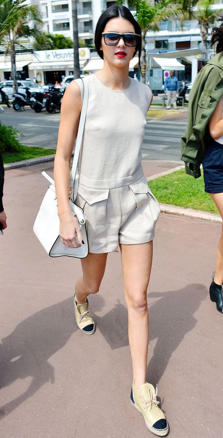 Kendall Jenner in Chanel Cruise Espadrilles
