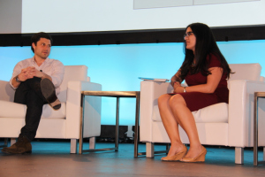 Brett Bouttier, Pres. - Awesomeness TV, with Saba Hamedy, Digital Entertainment Reporter, Mashable