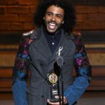 Hamilton actor Daveed Diggs accepts the Tony Award for best performance by an actor in a featured role in a musical