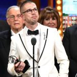 Stephen Karam accepts the Tony Award for best play for The Humans