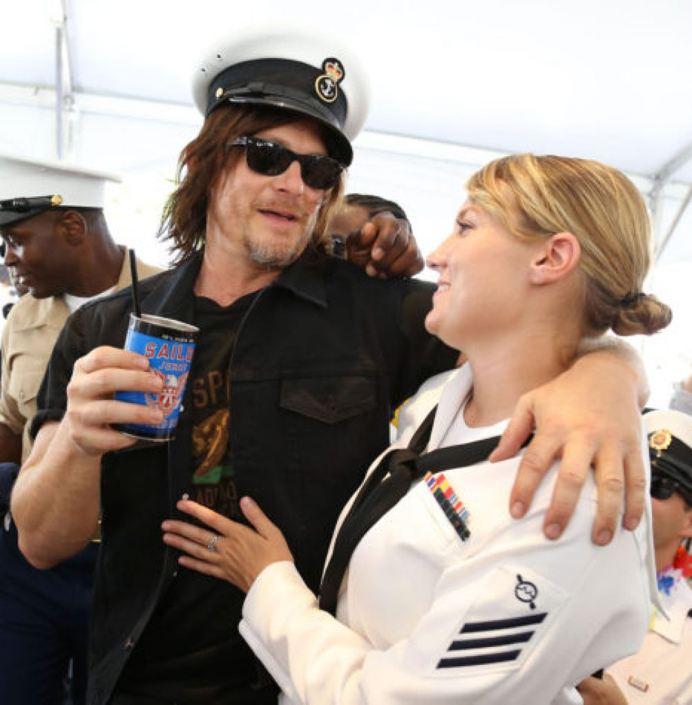 Norman Reedus Toasts the Troops with Sailor Jerry Spiced Rum During NYC Fleet Week