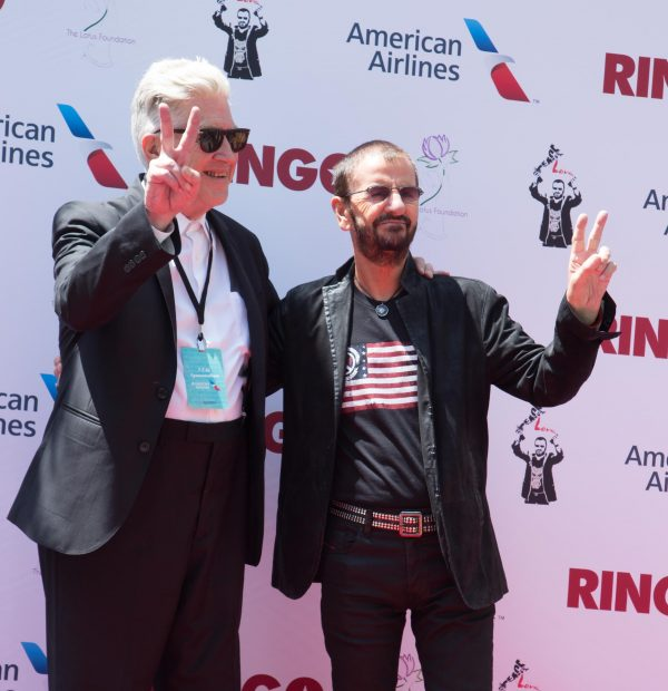 David Lynch and Ringo Starr attend 'Peace & Love' Birthday Celebration