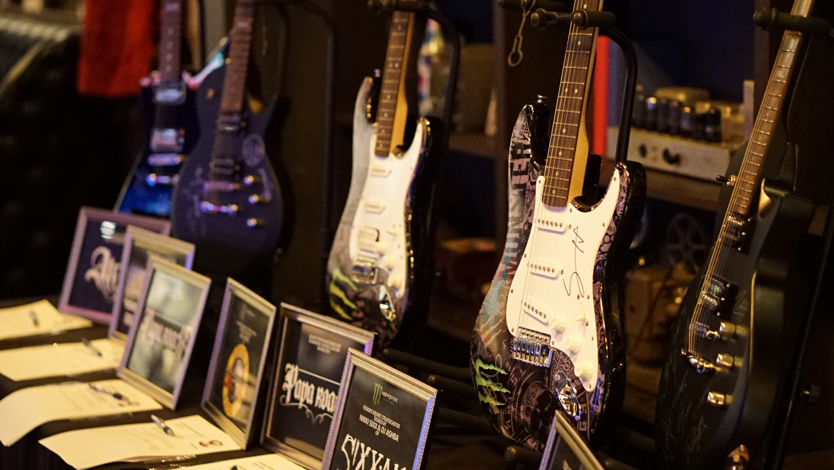 Auction Items - Autographed Guitars -Photo Credit: Linita Sotelo-Masters