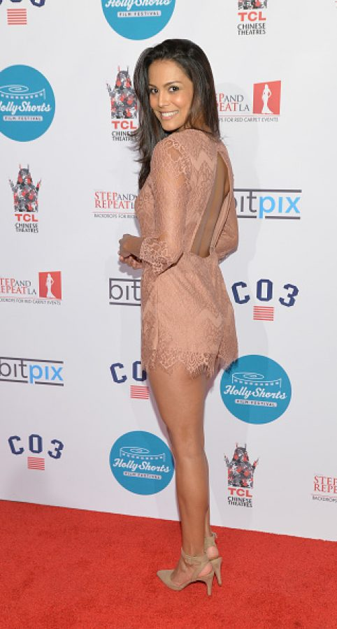 Actor Raquel Pomplun   (Photo by Michael Tullberg/Getty Images)