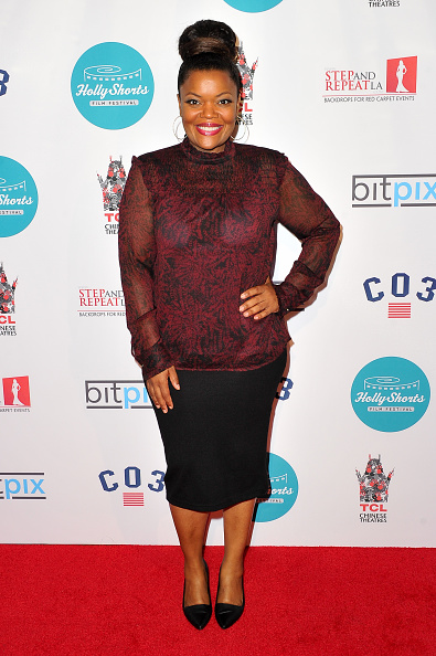 "Actress Yvette Nicole Brown ""Cuddle Party"" (Photo by Allen Berezovsky/WireImage)"
