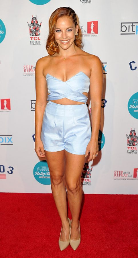 Actress Amy Paffrath   (Photo by Allen Berezovsky/WireImage)