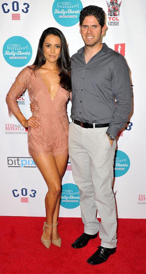 Actress Raquel Pomplun and husband Alejandro Pomplun    (Photo by Allen Berezovsky/WireImage)