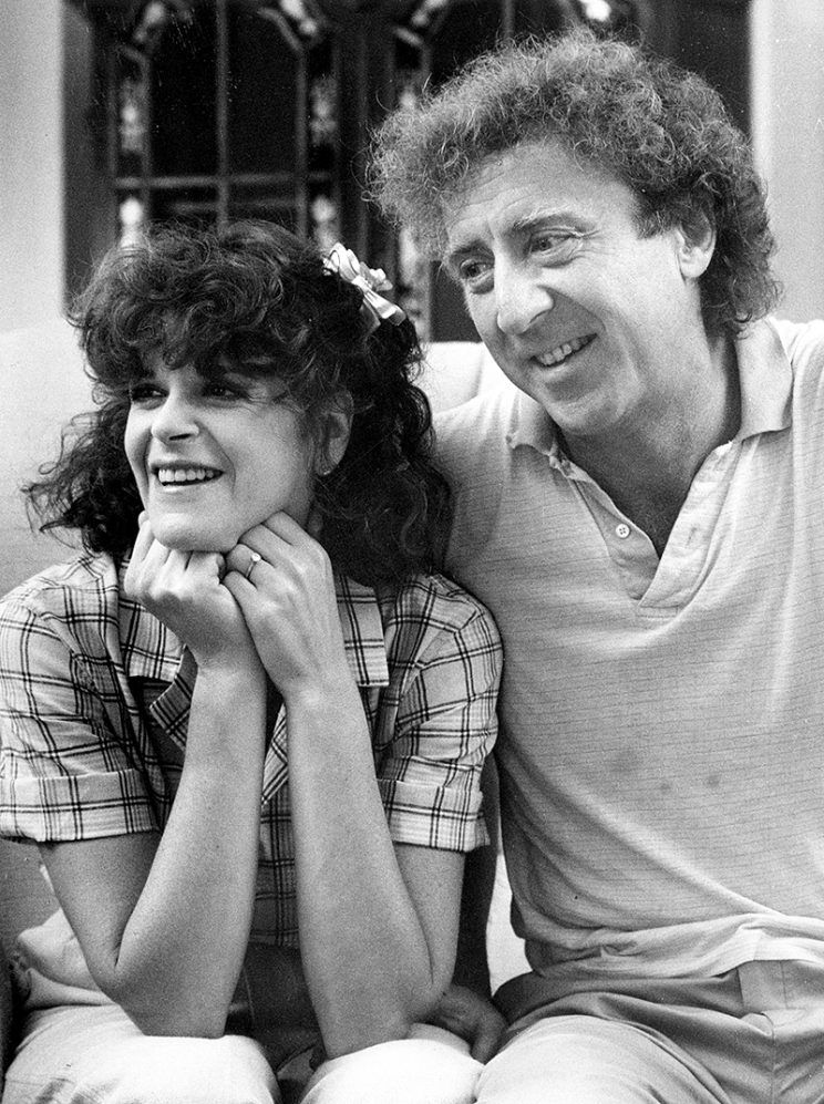 Gene Wilder with third wife Gilda Radner