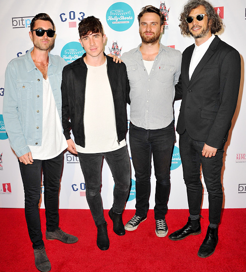 (L - R) Musicians Billy Adams, Jack Edwards, Jonathan Harvey and Gregory Rogove of the band Wild Wild Horses (Photo by Allen Berezovsky/WireImage)