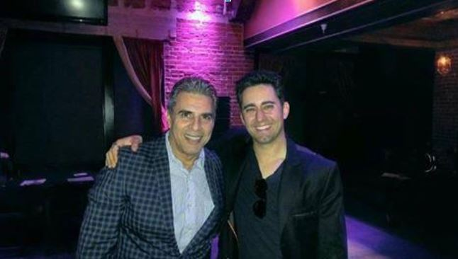 Michael Sterling with Tony Award winner John Lloyd Young – Image credit – The Hollywood 360