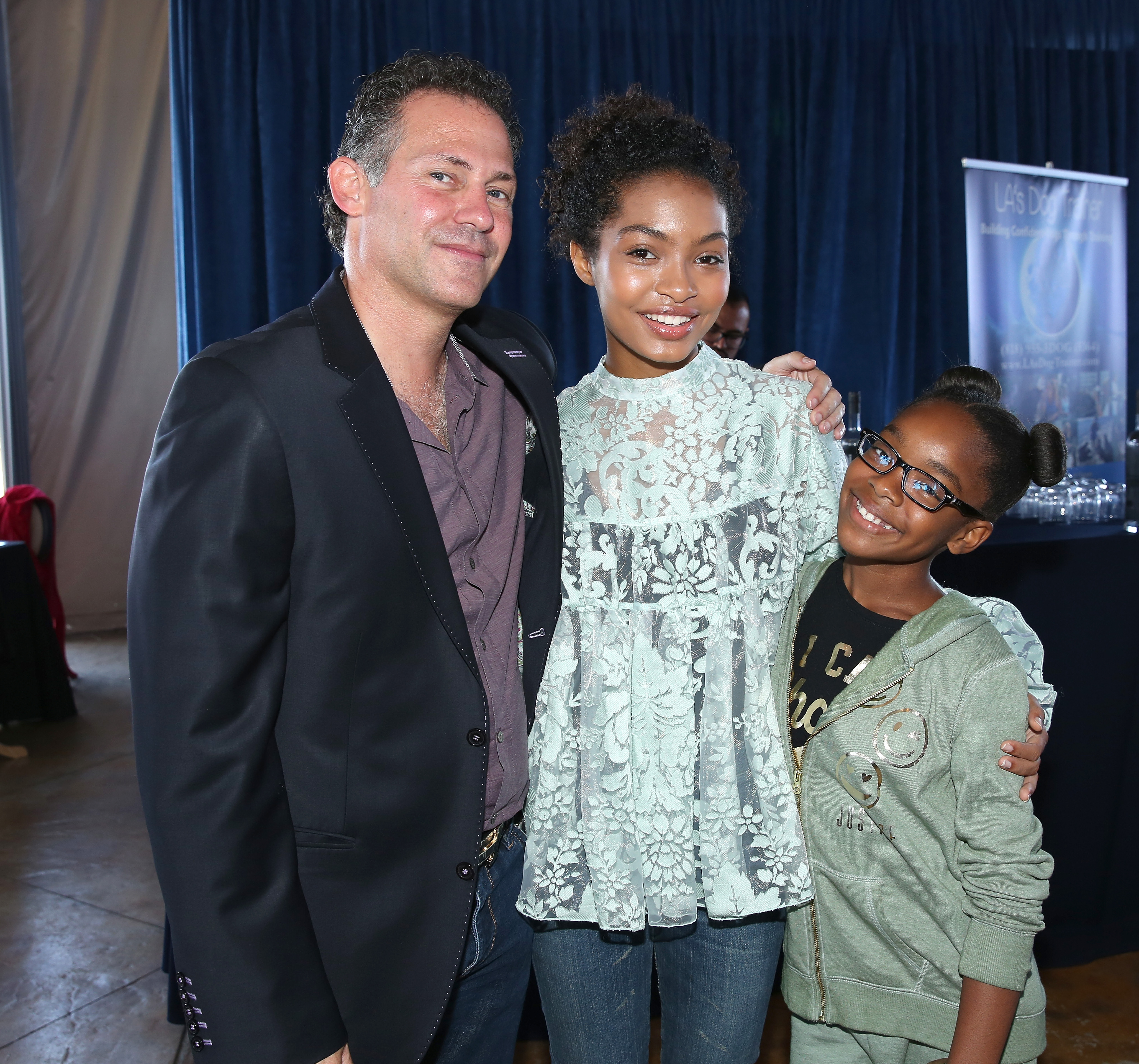 BEVERLY HILLS, CA - SEPTEMBER 16: (L-R) Gavin Keilly, actors Yara Shahidi and Marsai Martin attend PILOT PEN & GBK's Pre-Emmy Luxury Lounge - Day 1 at L'Ermitage Beverly Hills Hotel on September 16, 2016 in Beverly Hills, California. (Photo by Maury Phillips/Getty Images for GBK Productions)