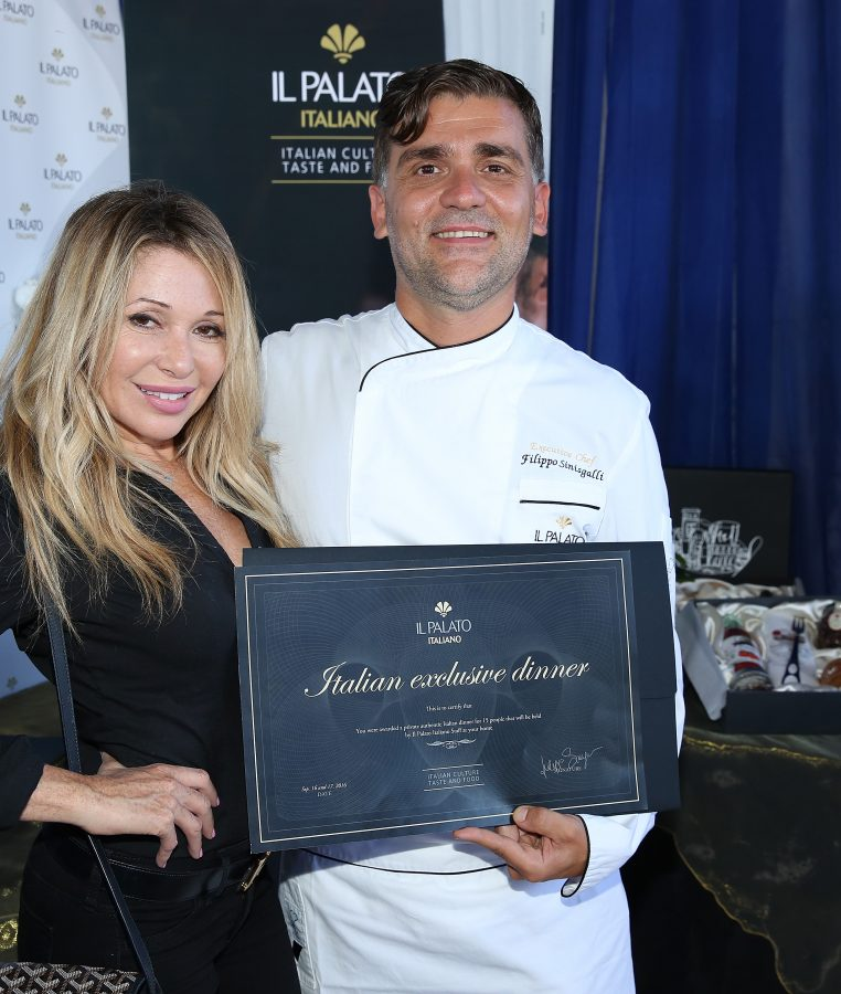Actress Elizabeth Daily and chef Filippo Sinisgalli