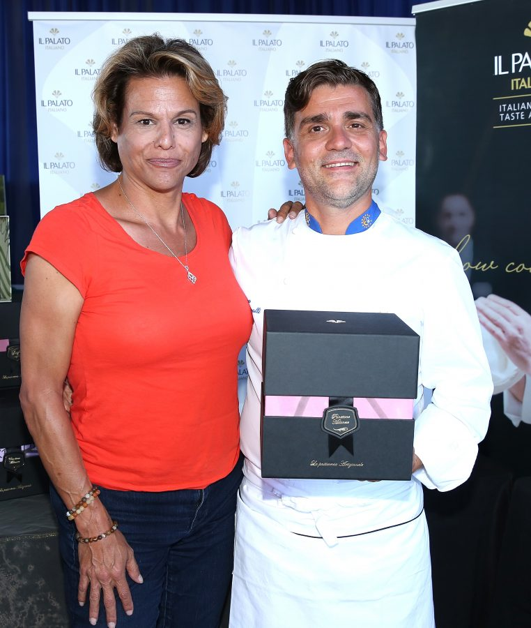 Actress Alexandra Billings and chef Filippo Sinisgalli