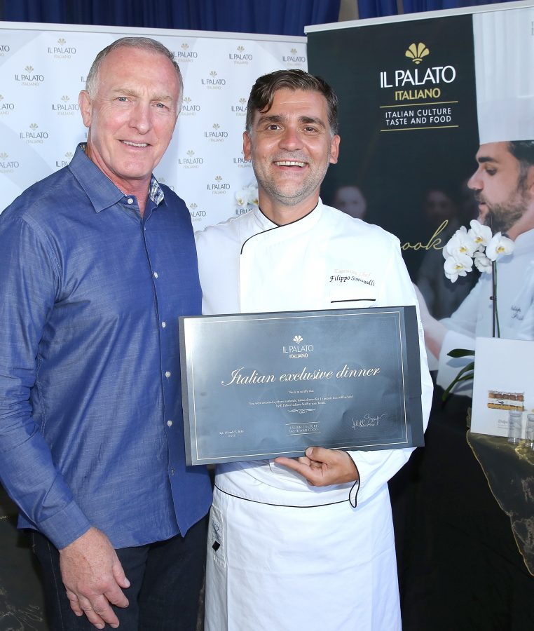 Actor Mark Rolston and chef Filippo Sinisgalli