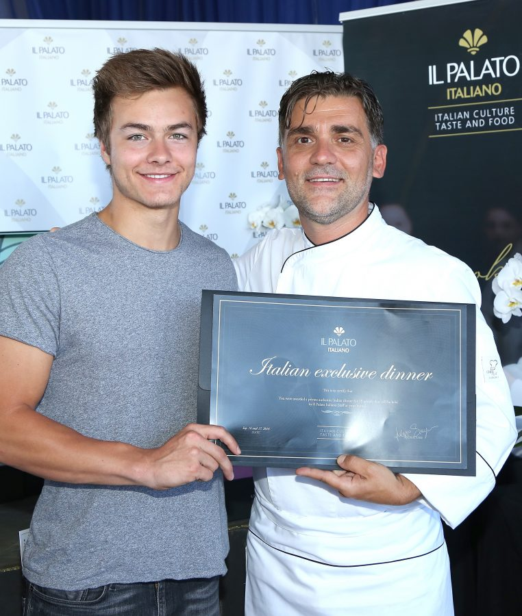 PILOT PEN &Actor Payton Meyer and chef Filippo Sinisgalli ; GBK's Pre-Emmy Luxury Lounge – Day 2