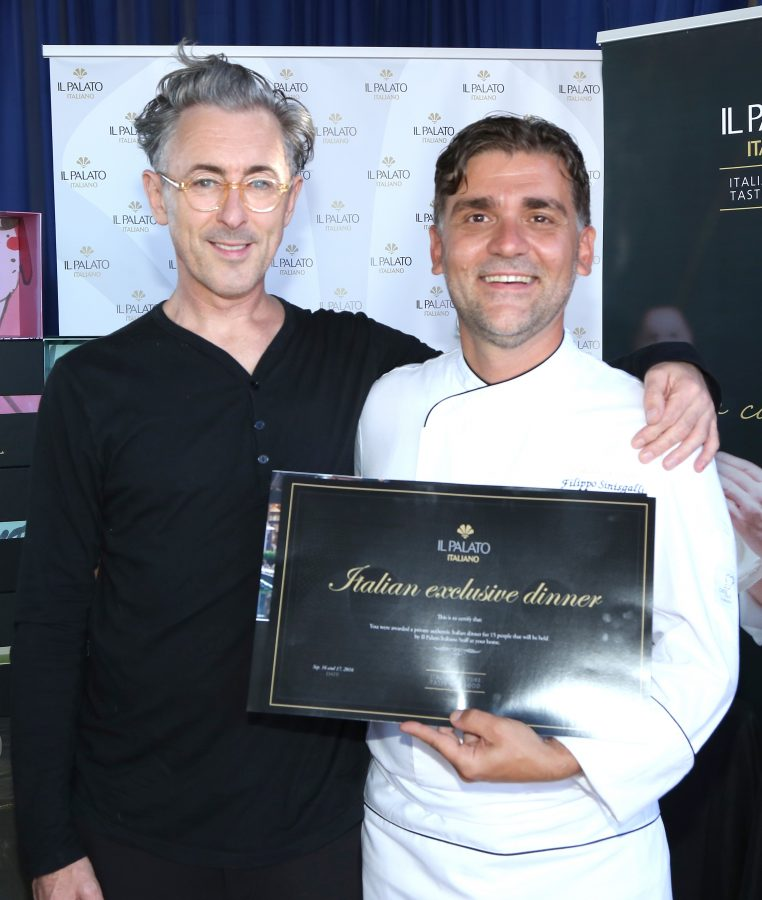 Actor Alan Cumming and chef Filippo Sinisgalli