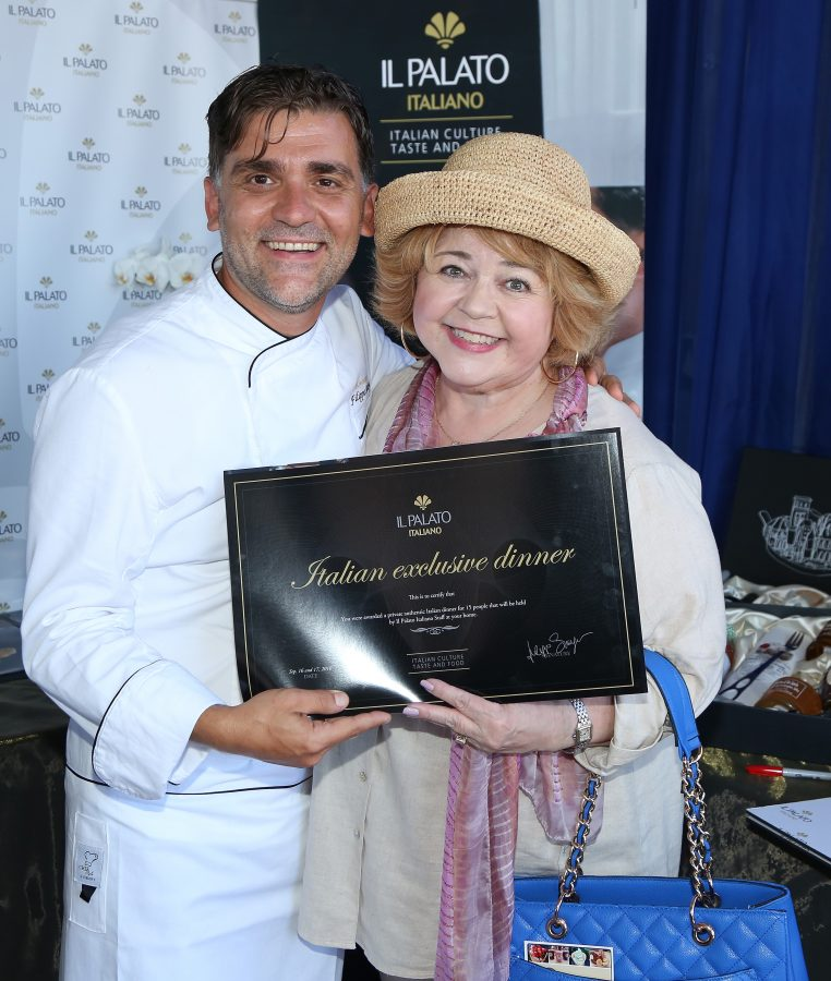Actress Patrika Darbo (R) and chef Filippo Sinisgalli