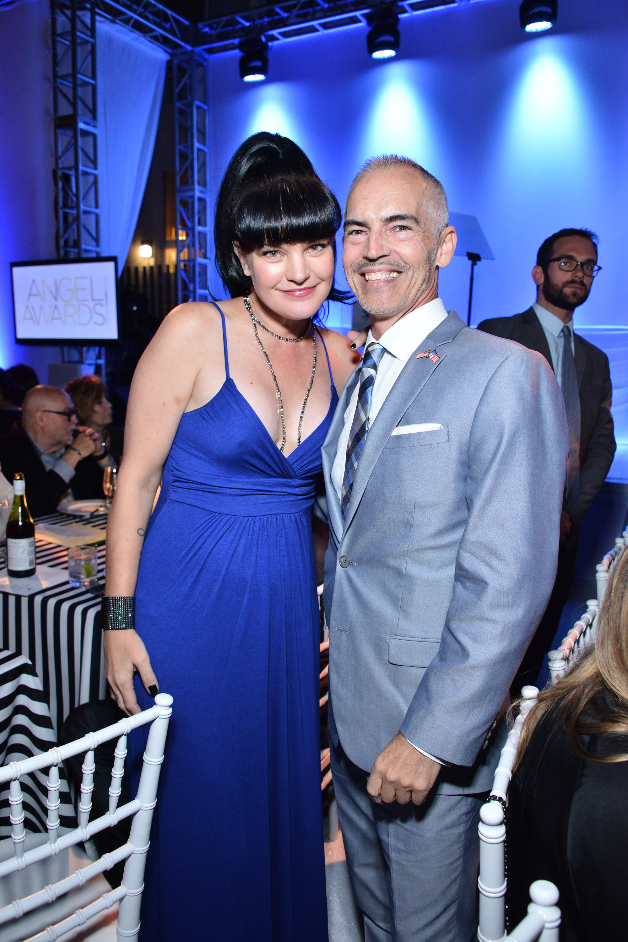 Pauley Perrette and Mitch O'Farrell (Photo by Araya Diaz/Getty Images for Project Angel Food)