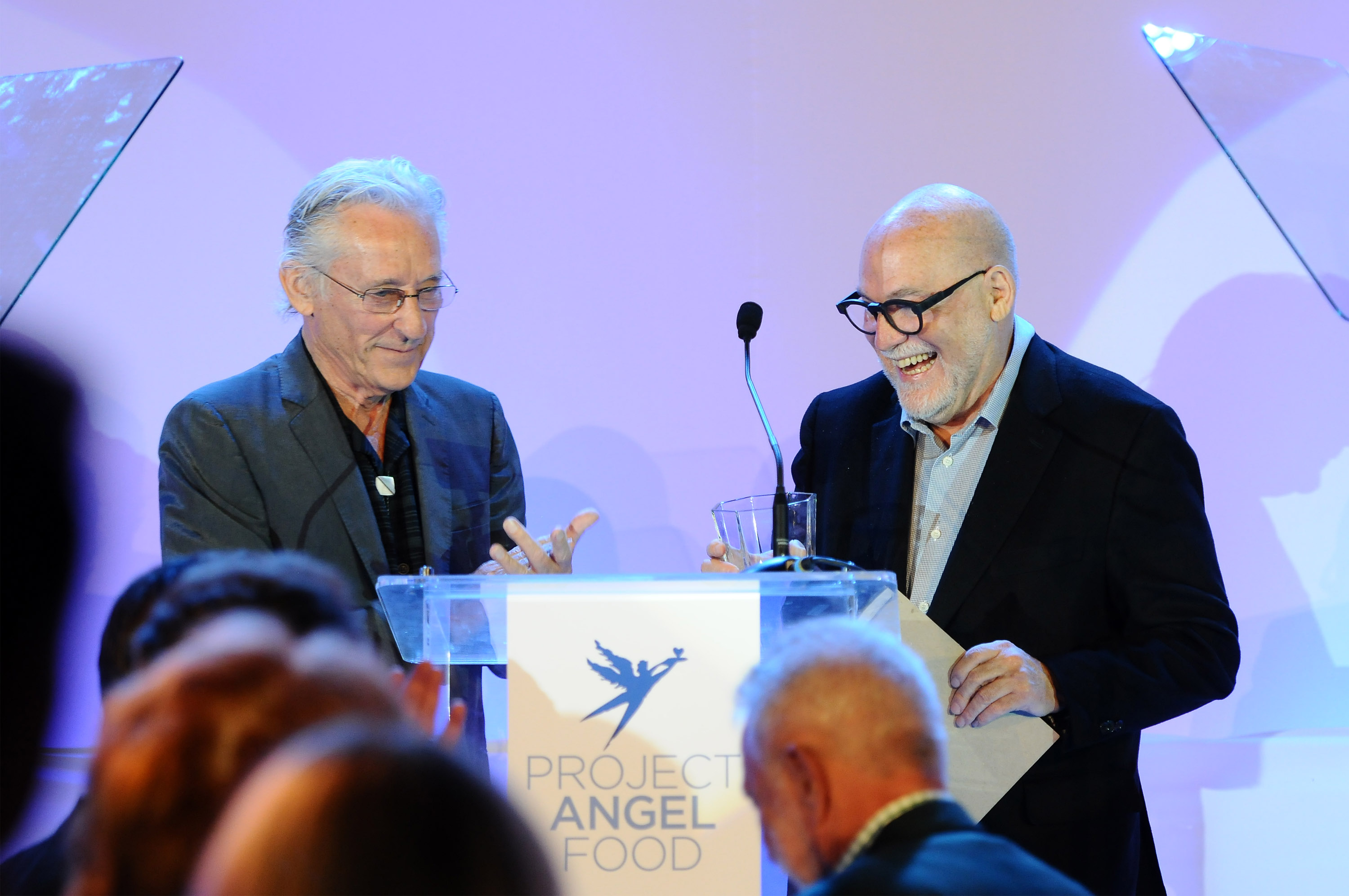 Ed Ruscha and Joseph Mannis (Photo by Araya Diaz/Getty Images for Project Angel Food)