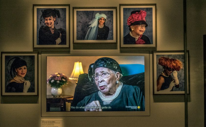 The exhibit honoring Mae Reeves and her West Philadelphia hat shop. ED HILLE / Staff Photographer