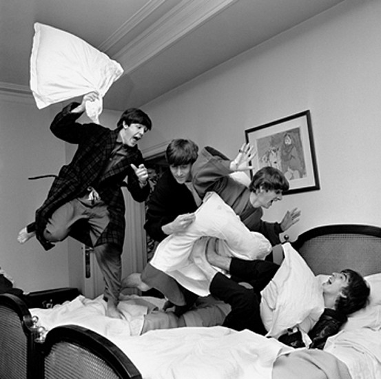 A photogragh of The Beatles by Photographer Henry Benson