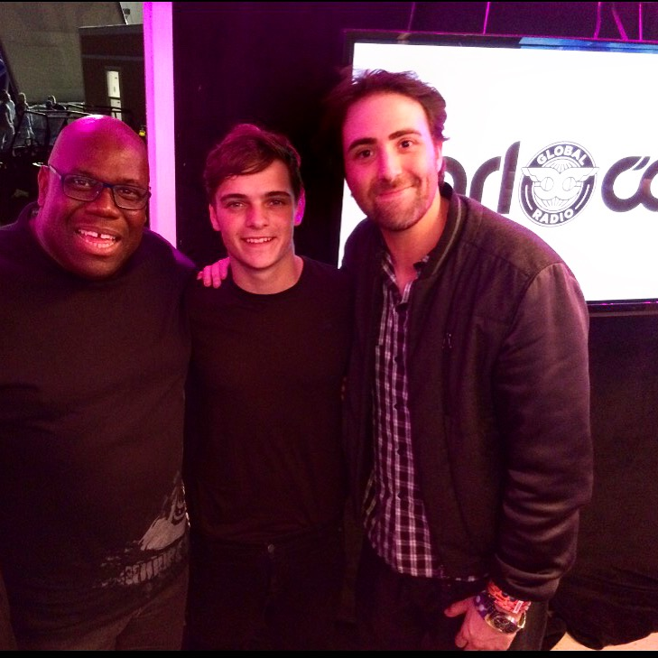 Behind the scenes with leads, Carl Cox and Martin Garrix, and Writer, Producer & Director of WHAT WE STARTED, Bert Marcus  - (c) Bert Marcus Productions