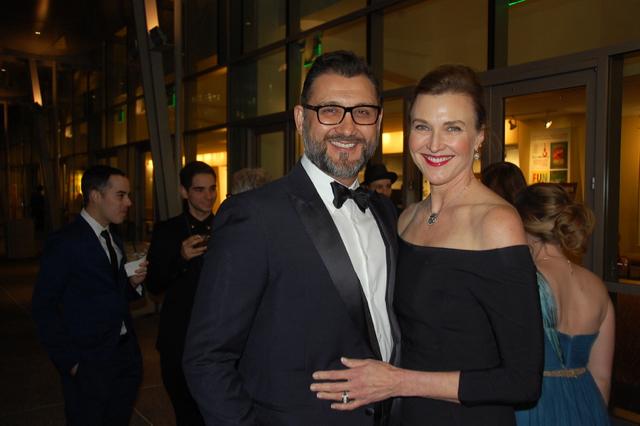 John Farmanesh-Bocca and Brenda Strong