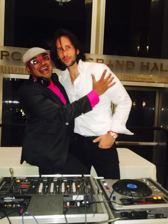 Dj Manny Patel seen here with Amaury De Laurens made sure guests danced like no one was watching!