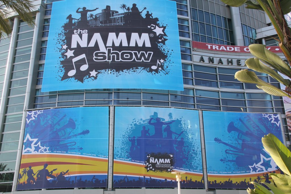 NAMM logo's Entrance Anaheim Convention Center (Photo by: Fredwill Hernandez/The Hollywood 360)