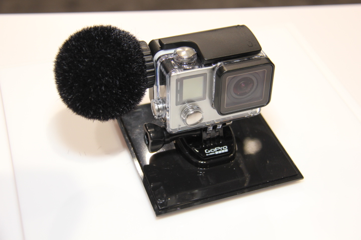 Sennheiser's MKE 2 mic for GoPro camera (Photo by: Fredwill Hernandez/The Hollywood 360)