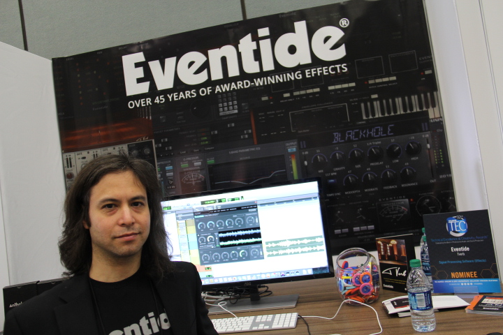 Eventides' Pete Bischoff showing off Fission plug-in (Photo by: Fredwill Hernandez/The Hollywood360)