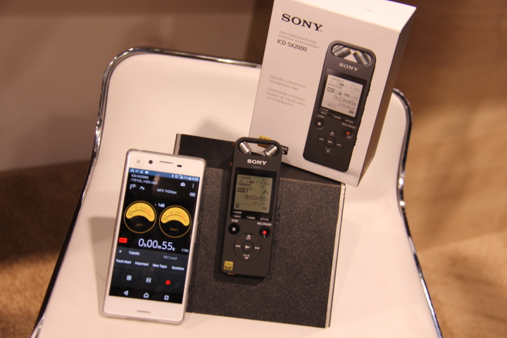 Sony unveils impressive ICD-SX2000 Hi-Res compact recorder (Photo by: Fredwill Hernandez/ The Hollywood 360)