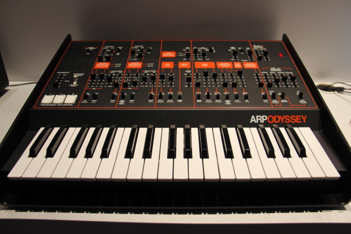 Korg's [Black/Orange] Arp Odyssey available in limited quantities (Photo by: Fredwill Hernandez/The Hollywood 360)