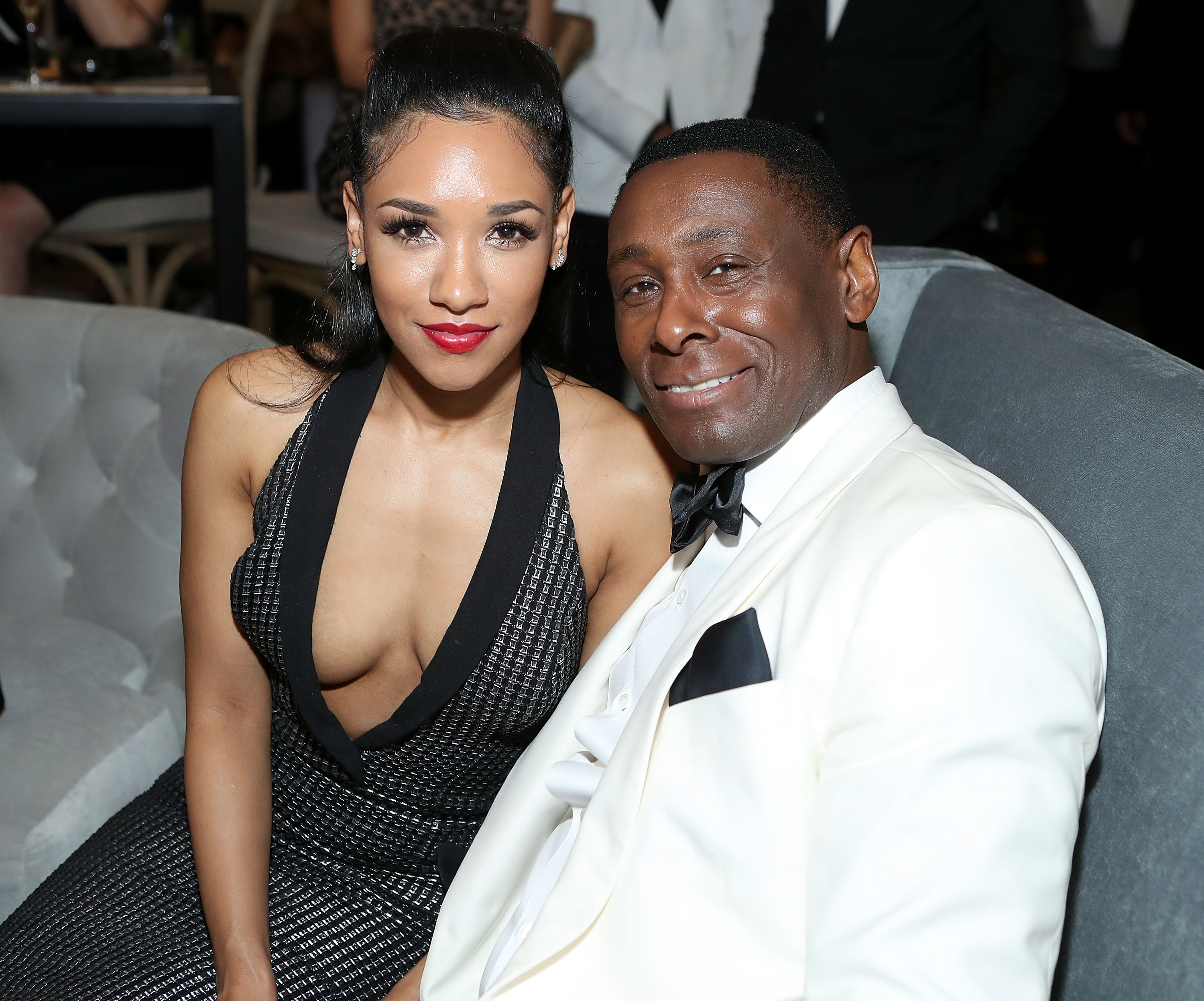 Actors Candice Patton (L) and David Harewood  (Photo by Randy Shropshire/Getty Images for Mercedes-Benz USA)