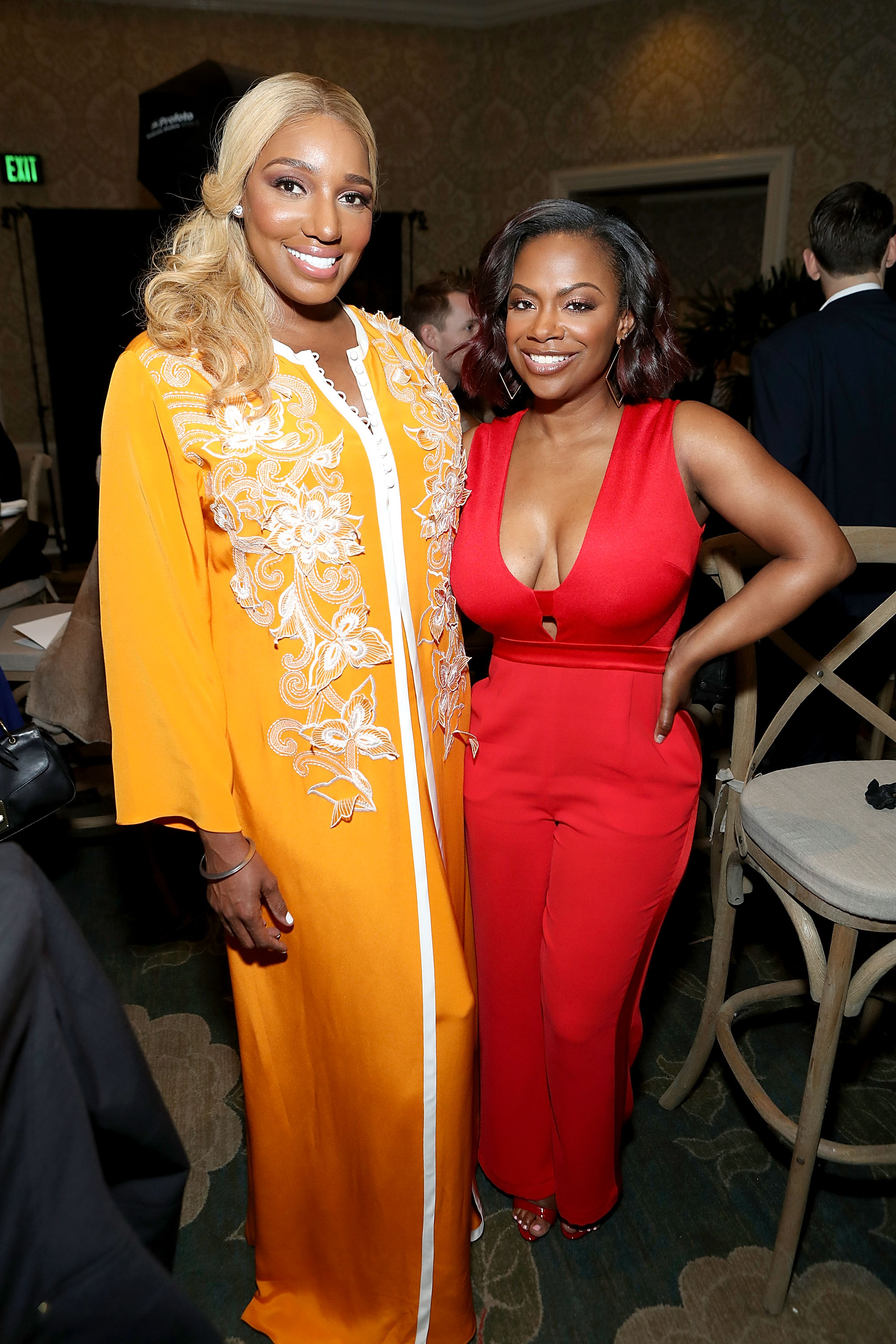 NeNe Leaks (L) and Kandi Burruss     (Photo by Randy Shropshire/Getty Images for Mercedes-Benz USA)