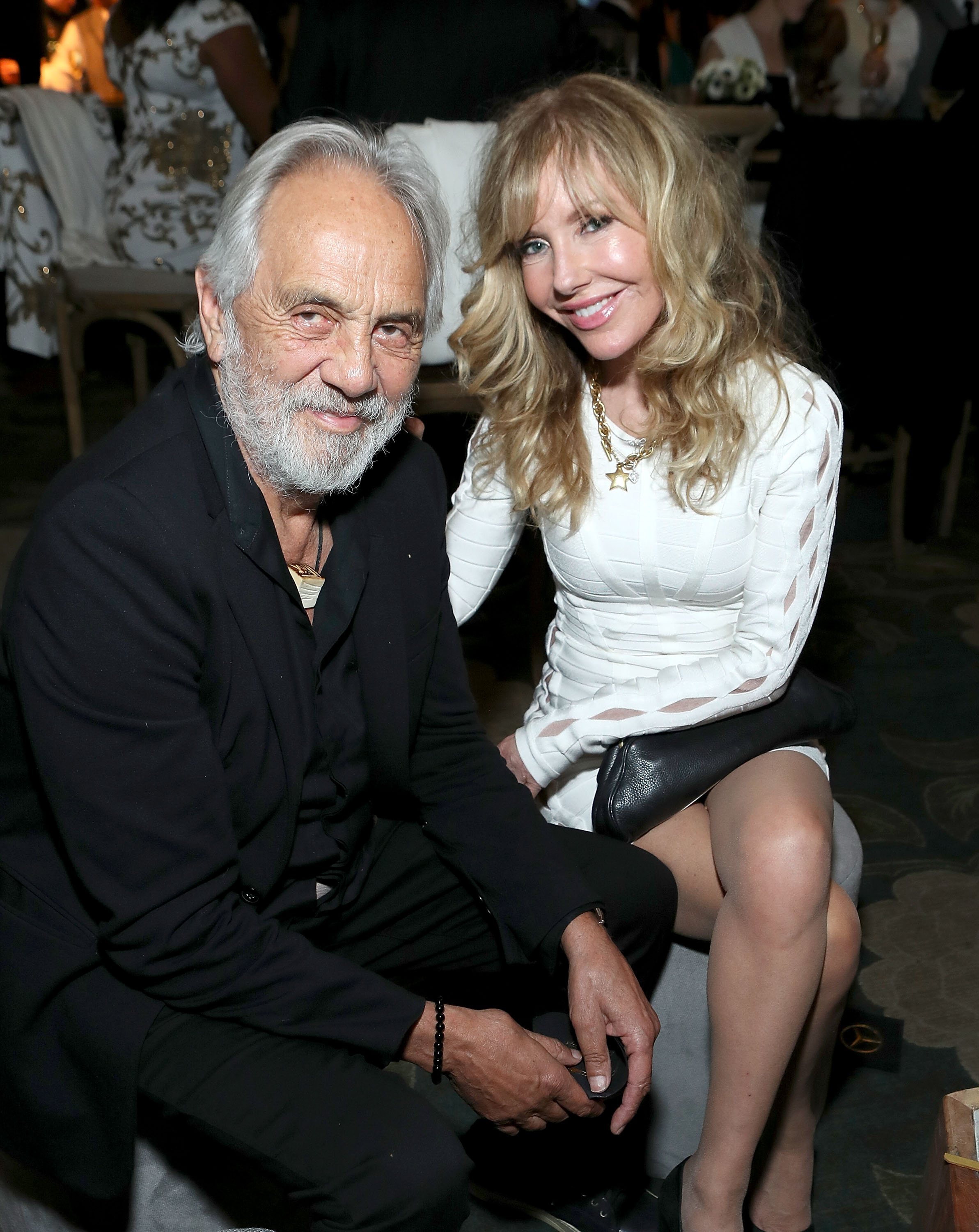 Comedian/actor Tommy Chong (L) and wife Shelby Chong