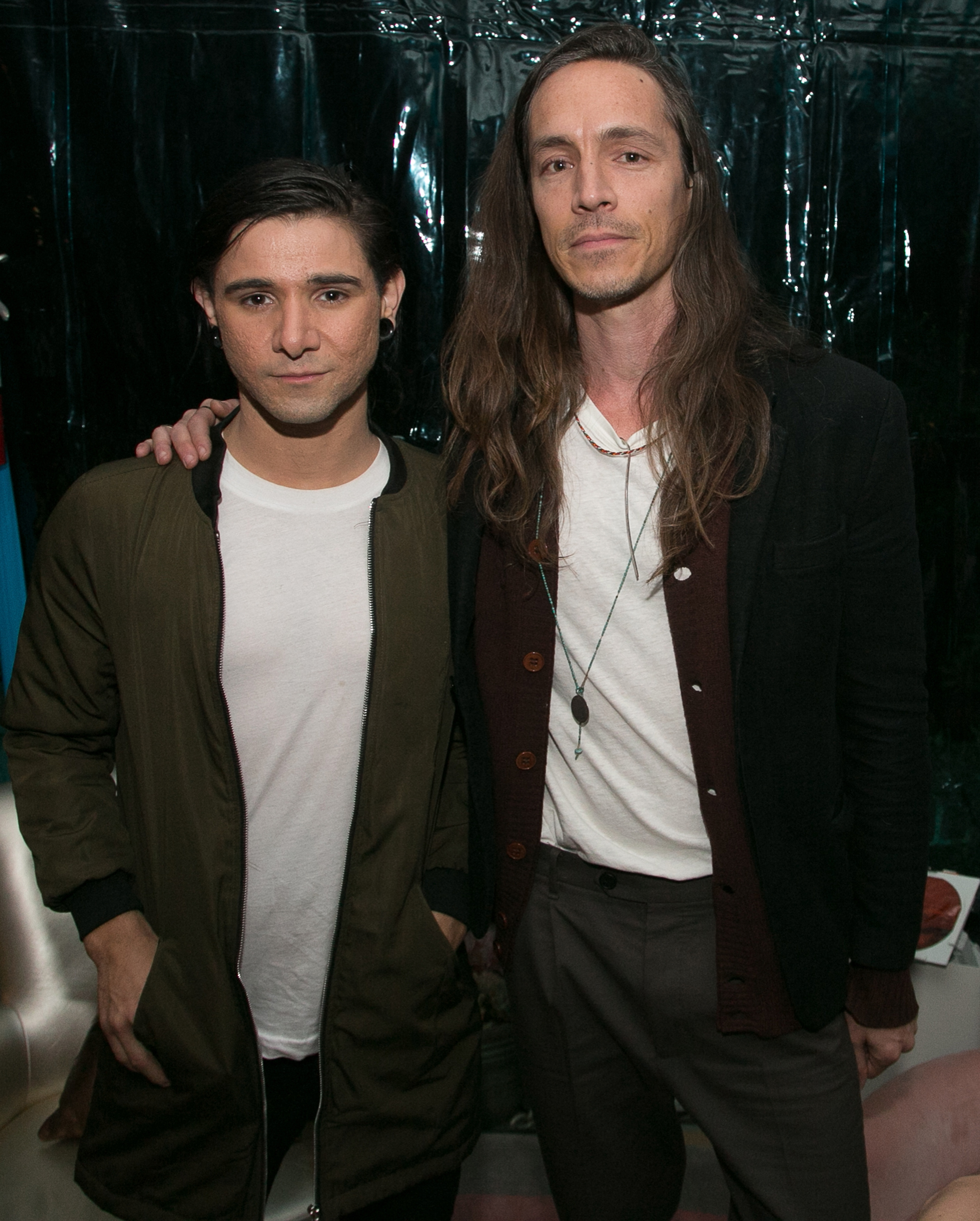 Skrillex (L) and Brandon Boyd