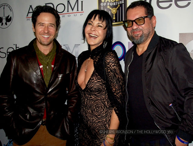 (L-R) Rob Morrow, Maria Conchita Alonso and Carlos Calvo