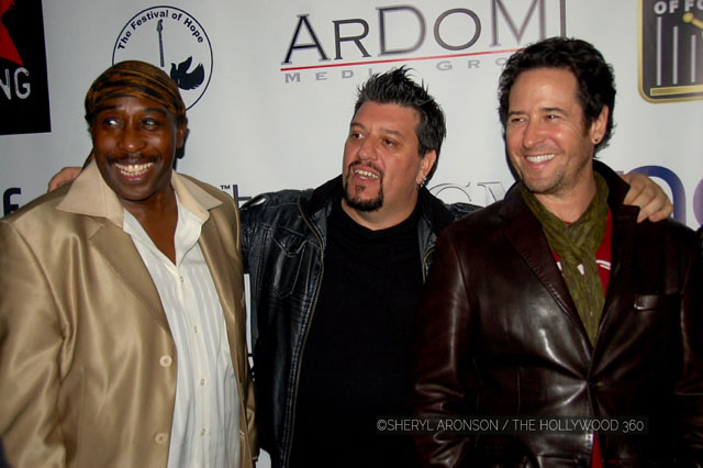 (L-R) Deon Estus, Sam Aliano and Rob Morrow