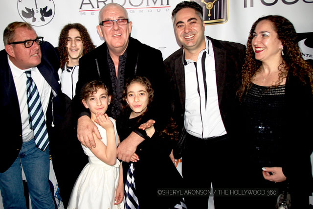 Gary Miller with Ian Abouloukme and Ian's beautiful family