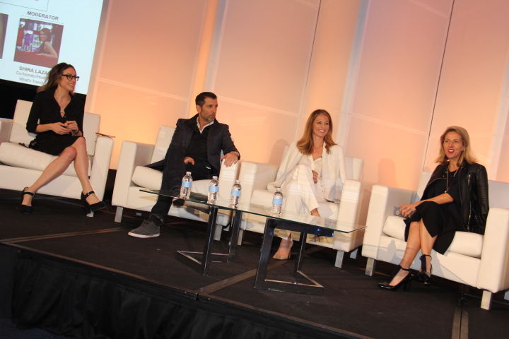 The Future of Content Marketing (L to R) Shira Lazar, co-Founder/Host, What's Trending, Shawn Gold, CMO, Tech Style Fashion Group, Shannon Pruitt, Pres., The Story Lab, & Stephanie Horbaczewski, co-Founder, Pres. & CEO, StyleHaul (Photo by: Fredwill Hernandez/The Hollywood 360)