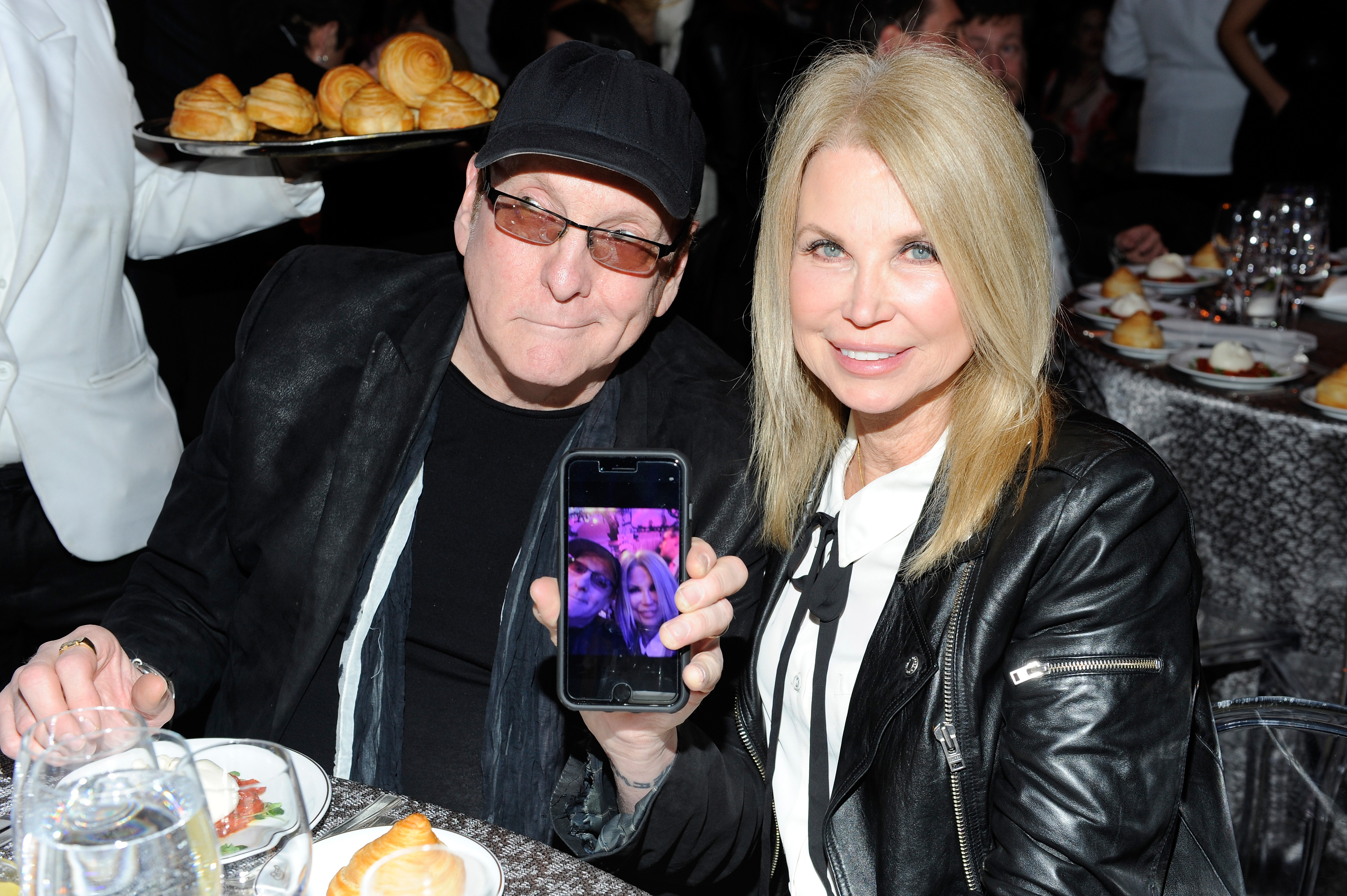 NEW YORK, NY - APRIL 13: Guitarist Rick Nielsen of Cheap Trick (L) and Karen Nielsen attend the 2017 SESAC Pop Awards on April 13, 2017 in New York City. (Photo by Shawn Ehlers/Getty Images for SESAC)