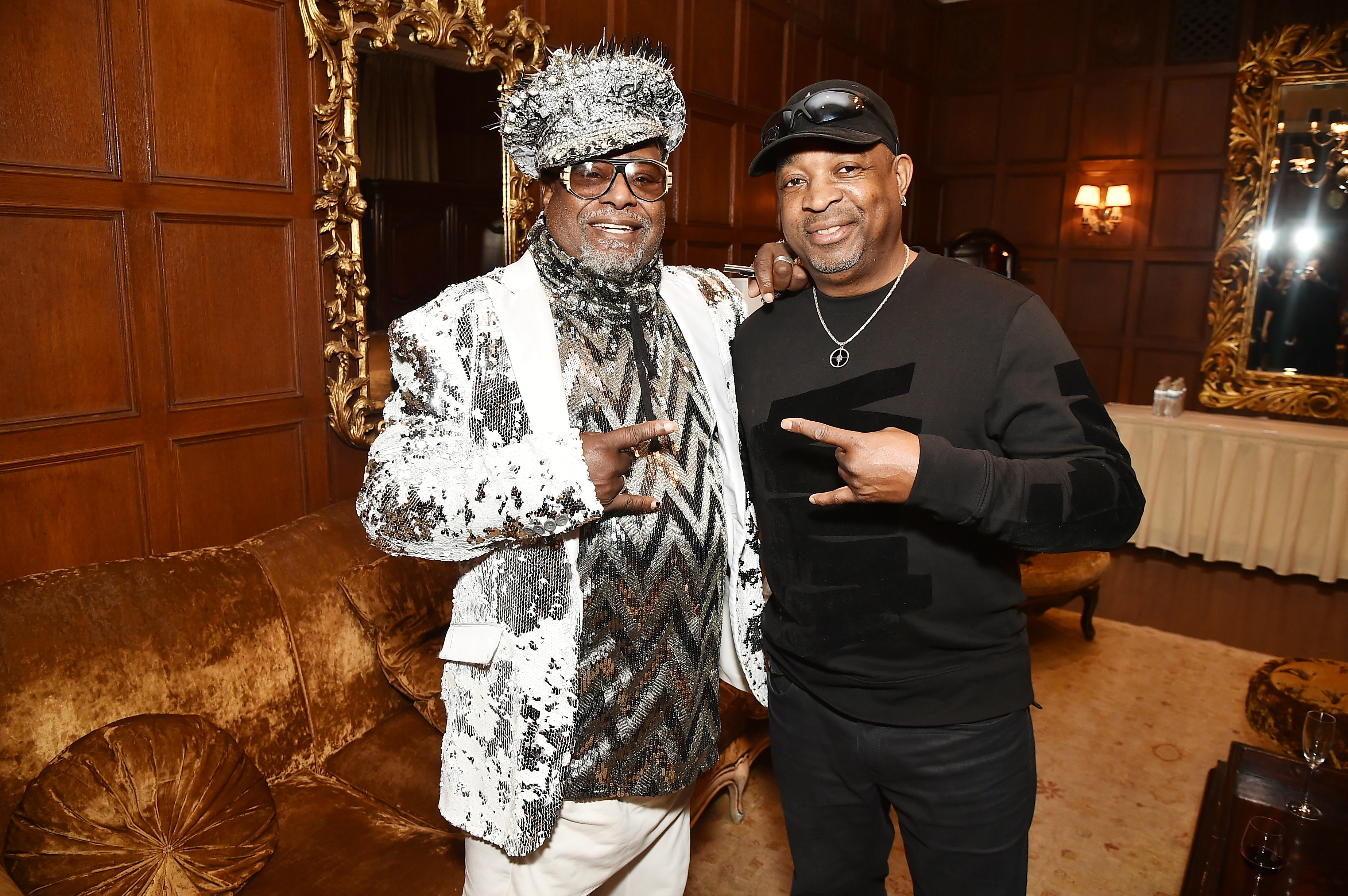NEW YORK, NY - APRIL 13: Singer/Songwriter George Clinton (L) and Rapper Chuck D attends the 2017 SESAC Pop Awards on April 13, 2017 in New York City. (Photo by Theo Wargo/Getty Images for SESAC)