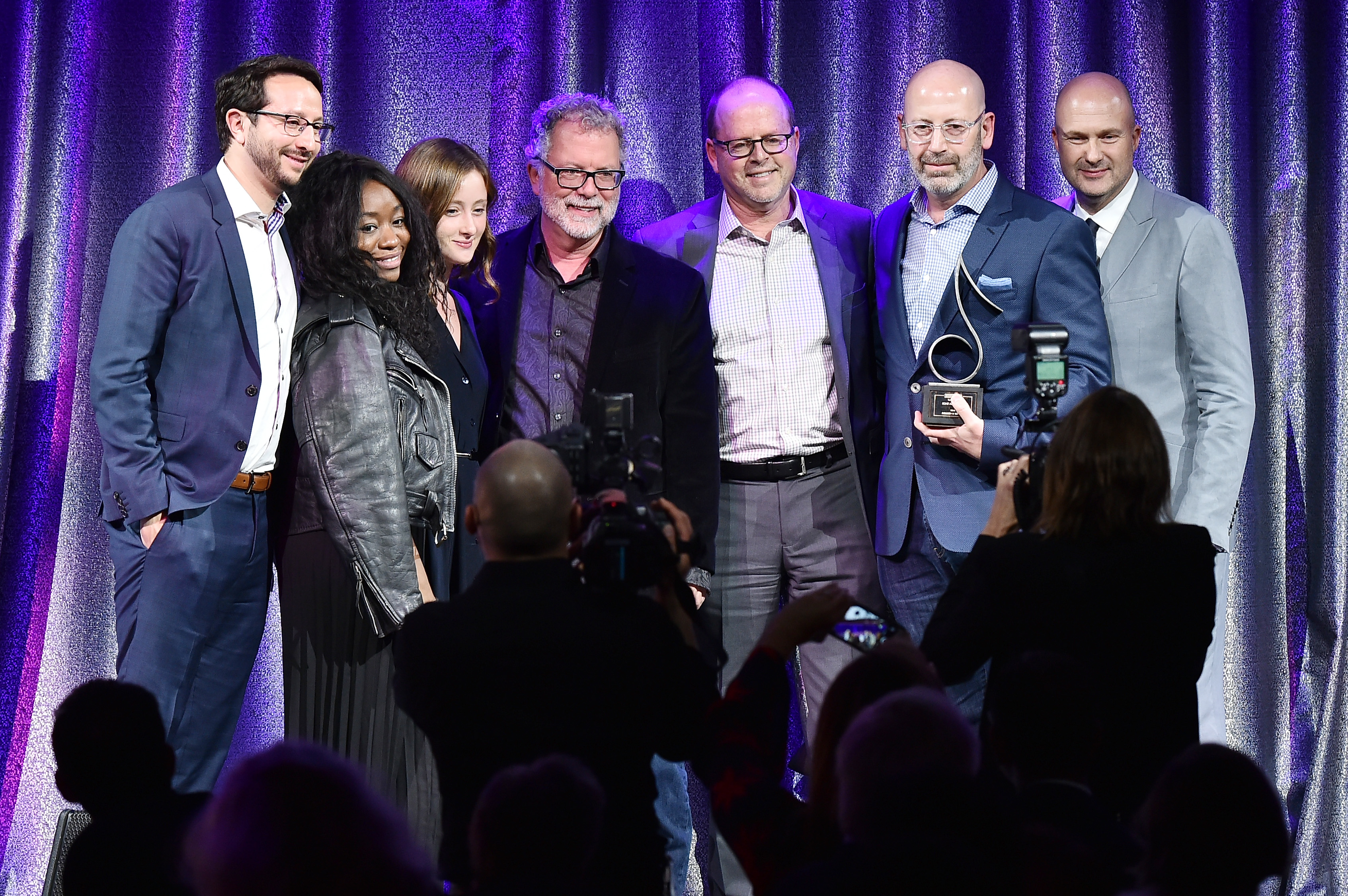 NEW YORK, NY - APRIL 13: Rich Christina (2nd R) and the Sony ATV Sounds team accept the award for 2017 Publisher of the Year during the 2017 SESAC Pop Awards on April 13, 2017 in New York City. (Photo by Theo Wargo/Getty Images for SESAC)