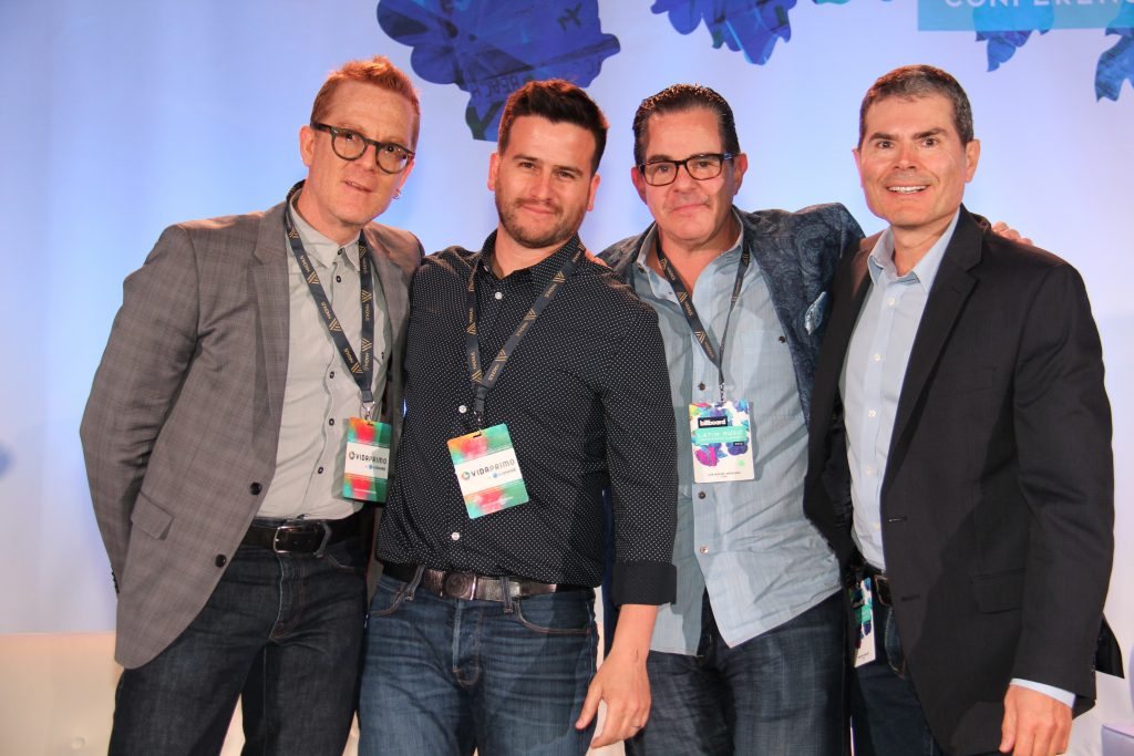 (L to R) Michael Paoletta, A&R/Supervision, Comma Music, Andrés Ordóñez, CCO, Energy BBDO, Luis Miguel Messinanu, Alma, Bruno Del Granado, CAA [Miami, Fl] (Photo by: Fredwill Hernandez/The Hollywood 360)