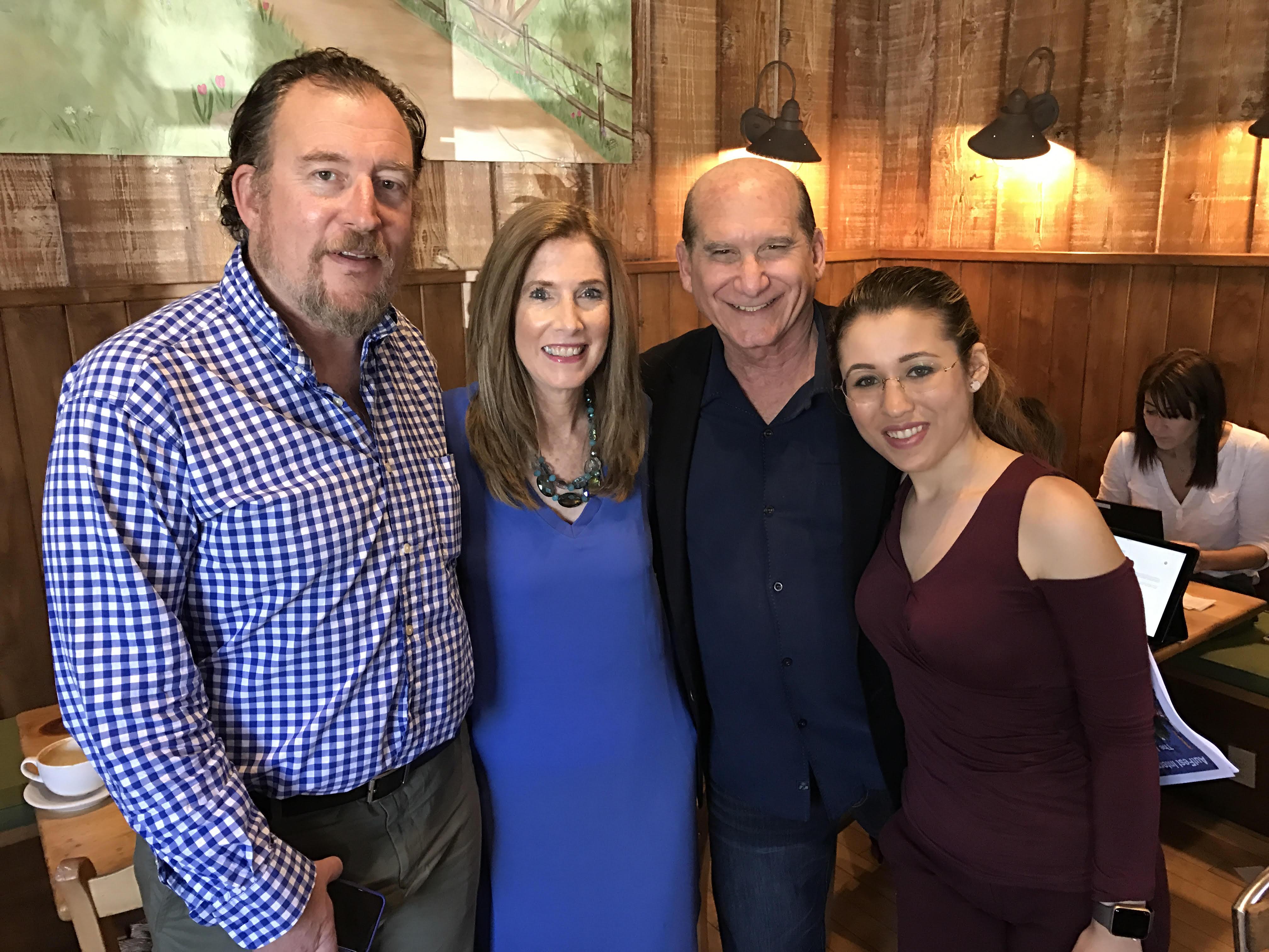 L to R- ASA Matt Asner,AGA Liz H Kelly, AGA Founder David M Luber, Autism Advocate Dani Bowman