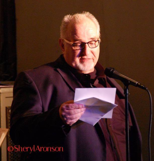 Clifford Bell reading a note sent to him from Barbra Streisand herself.