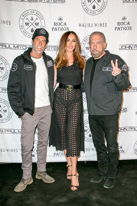 AWOW founder Steven Lippman, HOW2GIRL Courtney Sixx, JP Dejoria - Credit: HAMID MOSLEHI/peakPRgroup