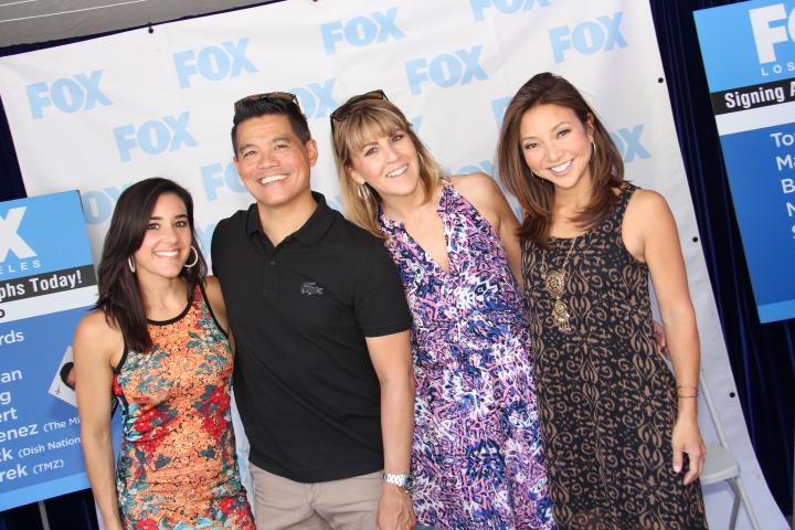 Fox [LA's] Maria Tellez, Bob DeCastro, Gigi Graciette, & Sandra Endo (Photo by: Fredwill Hernandez/The Hollywood 360)